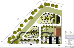 Planzeichnung Wohnmobilstellplatz Venekotensee
