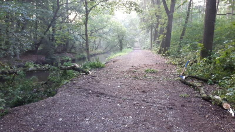 Niederkrüchten Gefahrenstelle Wander- und Radweg beseitigt